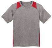 Youth All Sport 2-Color Heather Athletic T-Shirts in 10 Colors. Sizes S-XL