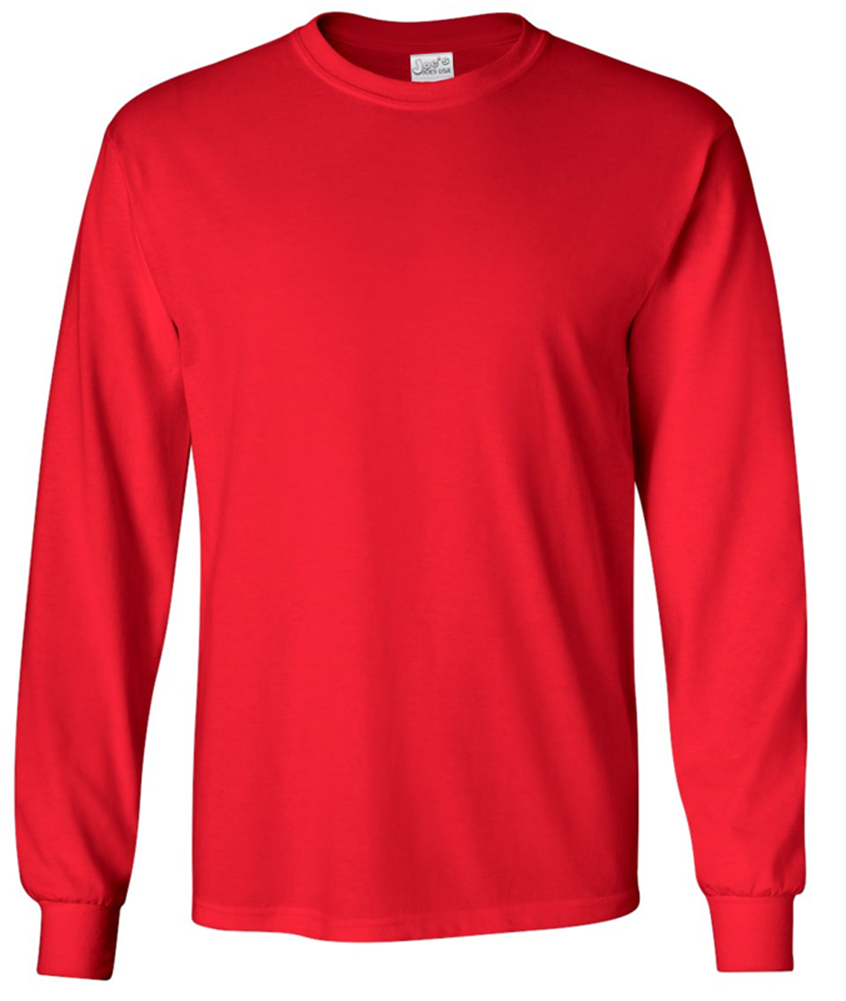 Mens Long Sleeve Heavyweight 6.1-ounce Cotton T-Shirts - JOESUSA.COM 261c555b2a0