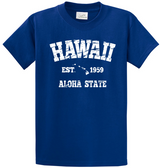 Vintage Hawaiian Islands Tee's in 42 Colors and Regular, Big and Tall Sizes 1959