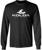 Koloa Surf. Wave Logo Long Sleeve Heavy Cotton T-Shirts in Regular, Big and Tall