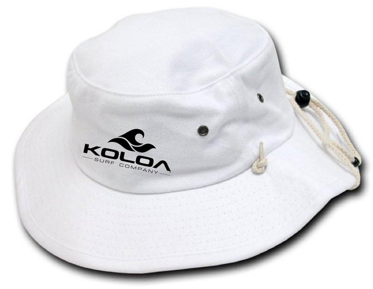 c6b71e259ec Koloa Surf Co. Aussie Style Outback Drawstring Adult Bucket Hat ...