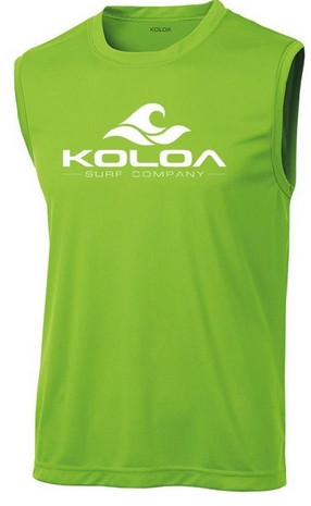 67570ecd4b650 Koloa Surf Co. Classic Wave Logo Moisture Wicking Sleeveless T-Shirt ...