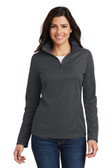 Ladies Pinpoint Mesh 1/2-Zip . L806.