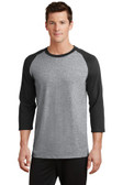 Joe's USA Men's 50/50 Cotton/Poly 3/4-Sleeve Raglan T-Shirt