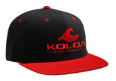Koloa Surf Black/Red Snapback Hat with Red Embroidered Classic Wave Logo