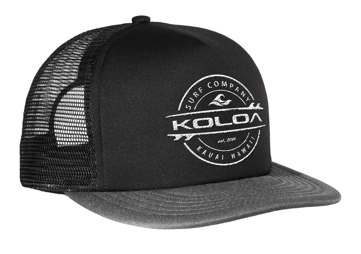 92251a6a595ca Koloa Surf Co. Premium Embroidered Thruster Logo Mesh Snapback ...