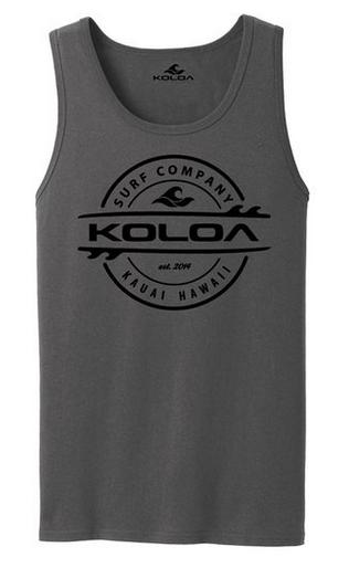 06ac0906bb7b2 Koloa Surf Co. Thruster Surfboard Logo Tank Tops. Adult Sizes  S-4XL.  Loading zoom