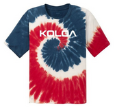 USA Rainbow tie-dye / White logo