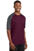 Mens PosiCharge Competitor Sleeve-Blocked Tee. ST354