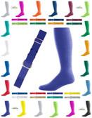 Joe's USA Adult Baseball Belt And Sock Combo - Purple