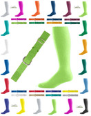 Joe's USA Adult Baseball Belt And Sock Combo - Neon Green