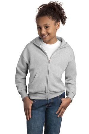 3d13ccae6d9 Hanes - Youth Comfortblend EcoSmart Full-Zip Hooded Sweatshirt. P480.  Loading zoom