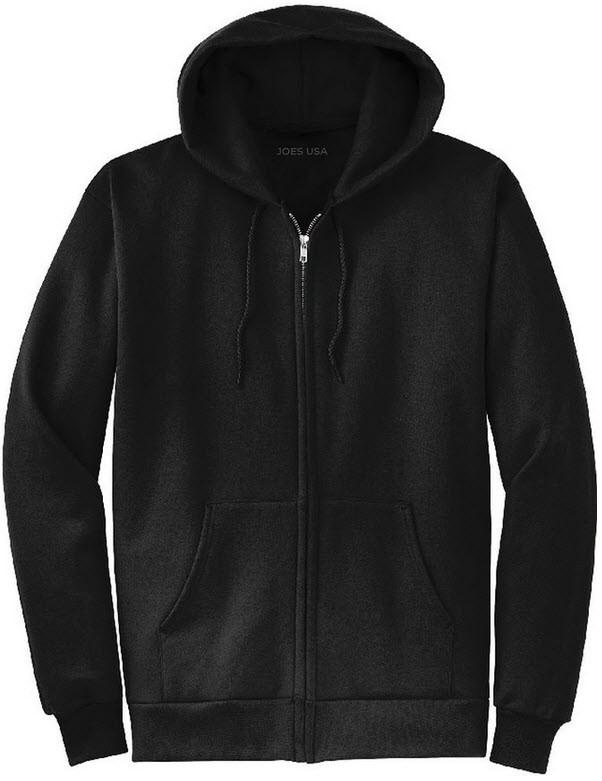 86750daff Mens Full Zipper Hoodies - Hooded Sweatshirts in 28 Colors. Sizes S ...