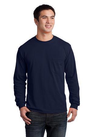 878252e26ab Gildan - Ultra Cotton 100% Cotton Long Sleeve T-Shirt with Pocket. 2410