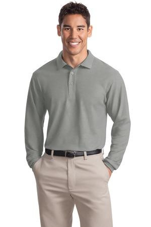 Mens Tall Silk Touch Long Sleeve Polo
