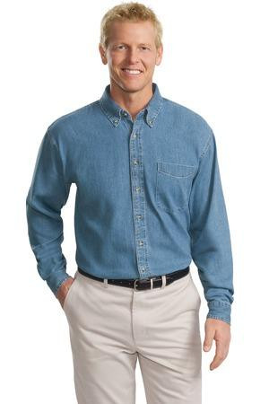 771f21cd584 Port Authority Tall Long Sleeve Denim Shirt. TLS600. Loading zoom. Hover  over image to zoom