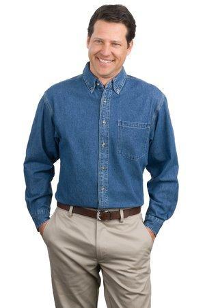 cfc6935e2ff Port Authority Heavyweight Denim Shirt. S100. - JOESUSA.COM