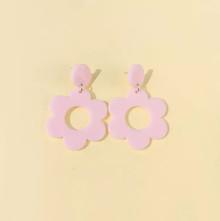 PINK FLOWER EARINGS