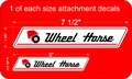Wheel Horse Attachment Decals 1 of each size