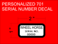 701 style serial number with your personal serial number