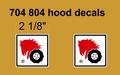 704 804 HOOD DECALS