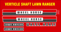 LAWN RANGER VERTICAL SHAFT DECALS 1970'S ERA