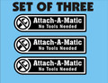 ATTACH A MATIC DECAL SET OF THREE FOR 520-H 520-8 AND OTHERS