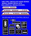 Wheel Horse  C-105 C-125 C-145 C-165  C-175 C-195 BLACKHOODS