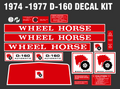 1974 THROUGH 1977 D-160, D-180 AND D-200 COMPLETE DECAL SETS