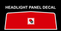 HEADLIGHT PANEL DECAL FITS 1973 18 HP AND ALL D-160, D-180, D-200 TRACTORS