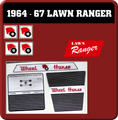 1965 thru 1967 LAWN RANGER REPRODUCTION DECALS