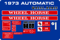 1973 automatic Decal Kit 10 TO 16 HP
