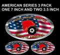 PATRIOTIC OVAL 3 PACK OF WHEEL HORSE DECALS