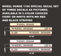 WHEEL HORSE 1100 SPECIAL DECAL SET 1980