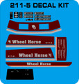 WHEEL HORSE 211-5   DECAL REPRODUCTION SET