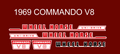 WHEEL HORSE 1969 COMMANDO V8 DECAL SET