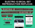 WHEEL HORSE 1968 OR 1969 ELECTRO 12 REPRODUCTION DECAL SET