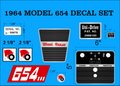 WHEEL HORSE MODEL 654 DECAL SET