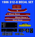 1986 WHEEL HORSE 312-8 COMPLETE DECAL SET