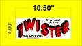 TWISTER TRACTOR DECALS