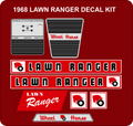1968 LAWN RANGER DECAL SET