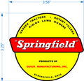 Springfield Riding Lawn Mower Decal
