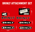 VINTAGE BRINLY ATTACHMENT DECAL SET