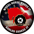 AMERICAN SERIES Wheel Horse Makes It Kohler Shakes It Decals