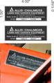 ALLIS CHALMERS DECK ID TAG