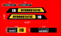 Montgomery ward Hydrostatic 16 decals set