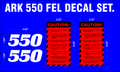 ARK 550 FRONT END LOADER DECAL SET