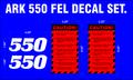 ARK 550 FRONT END LOADER DECAL SET