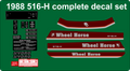516-H complete decal set