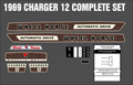 1969 CHARGER 12 AUTOMATIC DECAL SET